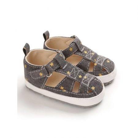 נעל אביב- אפור. מידה 9-12 חודשים נעליים