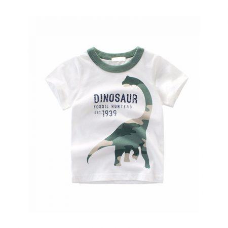 חולצת דינוזאור לבן חולצות