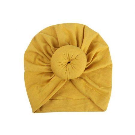 כובע מיוחד עם גולגול. כובע בובושיק. מידה: 3-12 חודשים כובעים