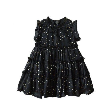 שמלת כוכבים שחורה קולקציית אירועים