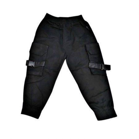 מכנסיים שהם שיק לבנים. מכנסי מייקל צבע שחור המציאות של ULIANA