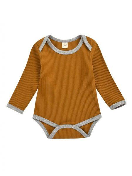 בגד גוף מאור- קרמל. מידה: 3-6 חודשים בגדי גוף