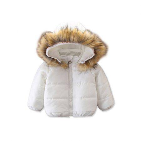 מעיל לבן- מידה: 3-4 שנים מעילים