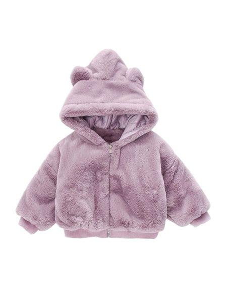 מעיל פרוותי- מידה: 12-18 חודשים מעילים