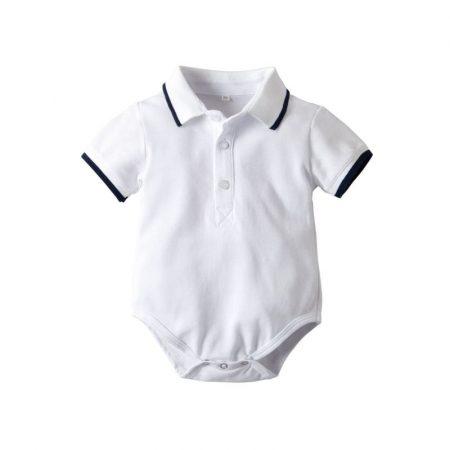 בגד גוף ספורט אלגנט לבן בגדי גוף