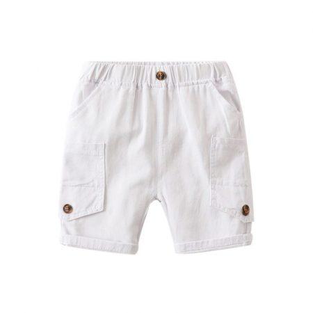 מכנסי כיסים לבן שורטים