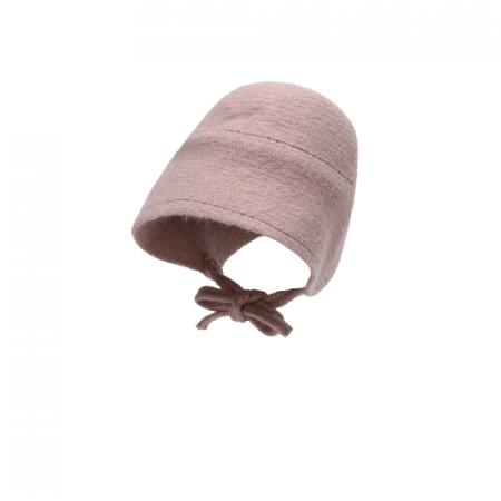 כובע סרוג. כובע איזבל בצבע ורוד עתיק. מידה: 1-3 שנים כובעים