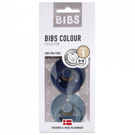 אריזת מוצצי ביבס- צבע ים וצבע נייבי BIBS