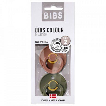 אריזת מוצצי ביבס- צבע יער וצבע סחלב BIBS