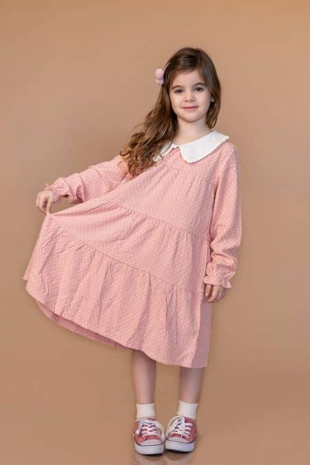 שמלת בוהו שיק לילדה. שמלת ורוניקה. מידה: 7 שנים