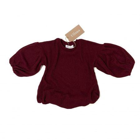 חולצת ריב לילדות. חולצת רעות בצבע בורדו