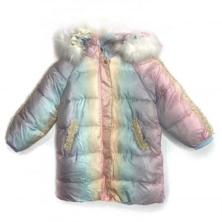 מעיל ארוך חד קרן מיוחד מאוד לילדה. מעיל ליב. מידה: 4-5 שנים