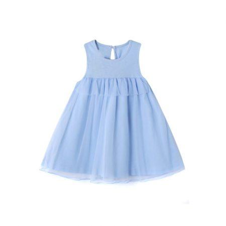 שמלה תכלת- מידה: 18-24 חודשים קולקציית אירועים