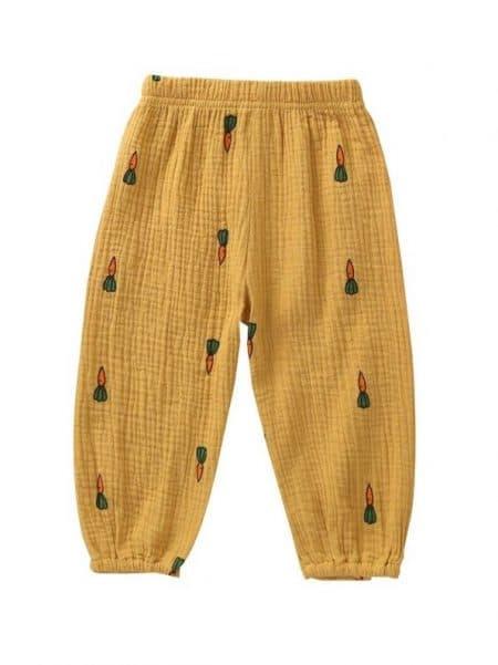 מכנסיים גזר- חרדל- מידה: 9-12 חודשים מכנסיים