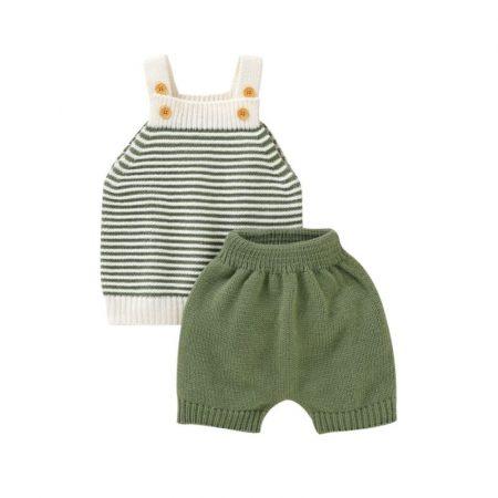 חליפה סרוגה פסים- מידה: 12-18 חודשים חליפות