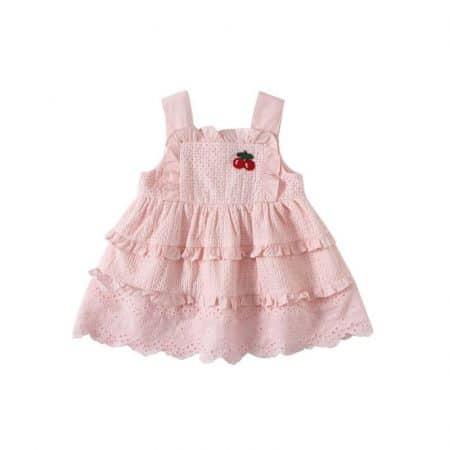 שמלת דובדבן- מידה: 18-24 חודשים צילומי גיל שנה